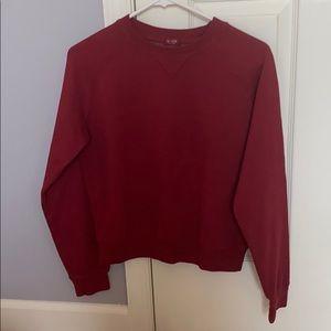 Brandy Melville red crew neck sweatshirt